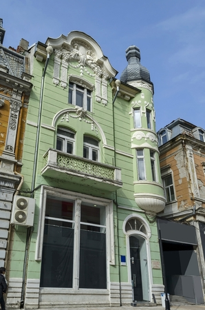 garret: Ancient building with rich decoration in center of Ruse town