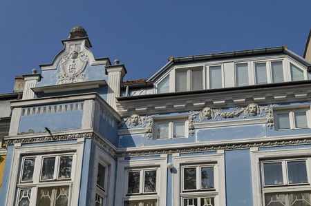 renovated: Old renovated building in Ruse town, Bulgaria Stock Photo