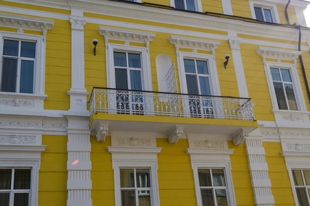 renovated: Renovated building in Ruse town, Bulgaria