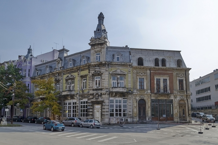 garret: Very old building, from 1898 year, in Ruse town, Bulgaria