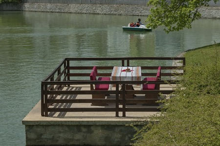 boris: Dining-table and wooden bench nook by Ariana Lake in Sofia Boris\