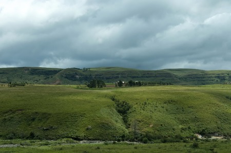 kwazulu natal: Drakensberg mountain in one stormy day