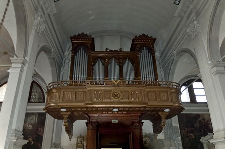martino: Organ in Burano Cathedral of San Martino Burano island Italy