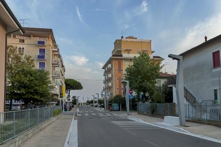lido: Lido di Jesolo street to sea beach, Italy Editorial