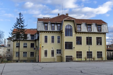 sofia: Old school buiding in Sofia city