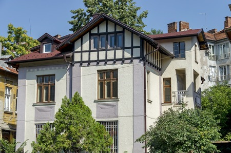 parget: Old architecture house in Sofia city