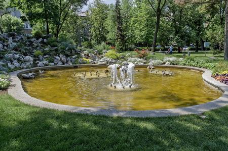 sofia: Doctors Garden small fountain in Sofia, Bulgaria