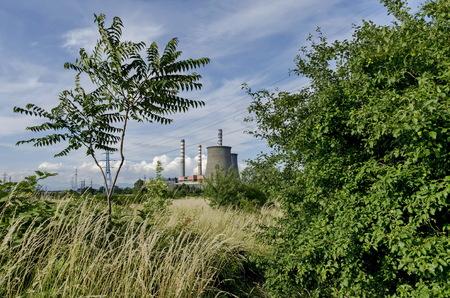 sofia: Distance view to Thermoelectric power plant Sofia Iztok