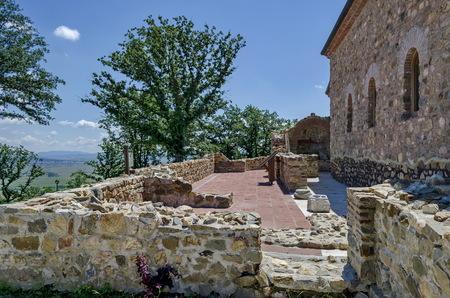 xv century: Reconstruction of the church from XV century Ascension Stock Photo
