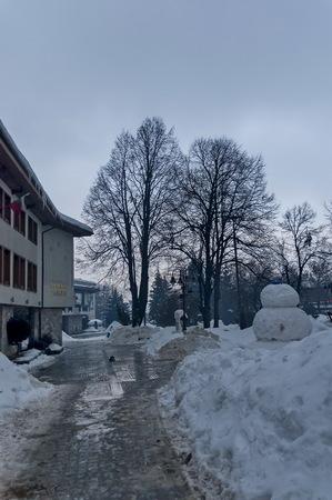 central square: Central square in Bansko town