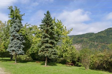 nook: Landscape in Pancharevo park, Bulgaria Stock Photo