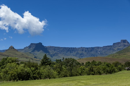 Landscape to Amphitheatre in Drakensberg mountain, South Africa