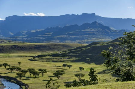 Part of one valley in Drakensberg mountain