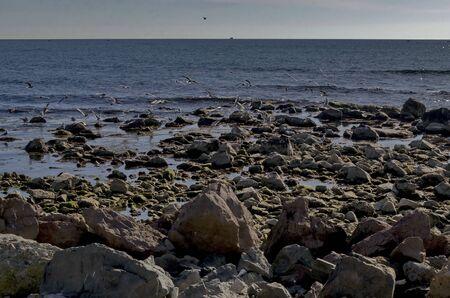 Life by seashore in Black sea Nessebar