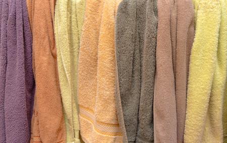 Soft Towels Hanging Rack in Outdoor - Top View