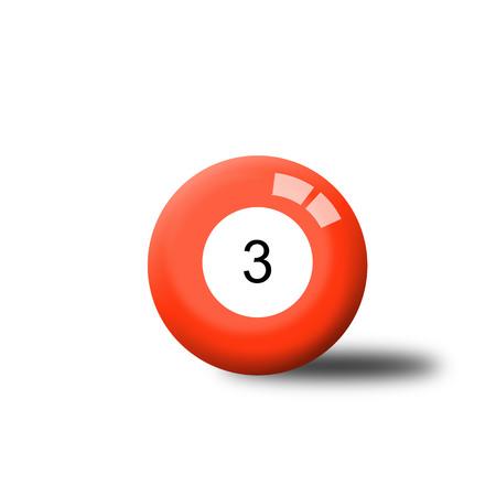 billiard ball: Number 3 Billiard Ball