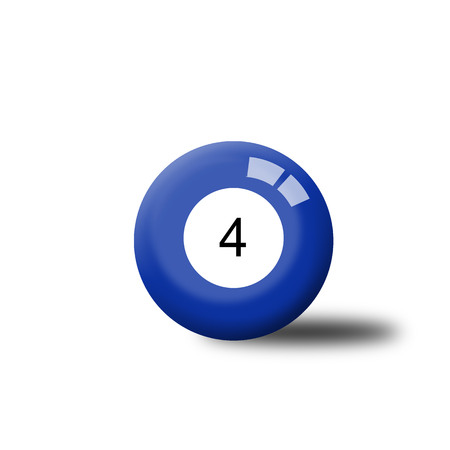 number 4: Number 4 Billiard Ball
