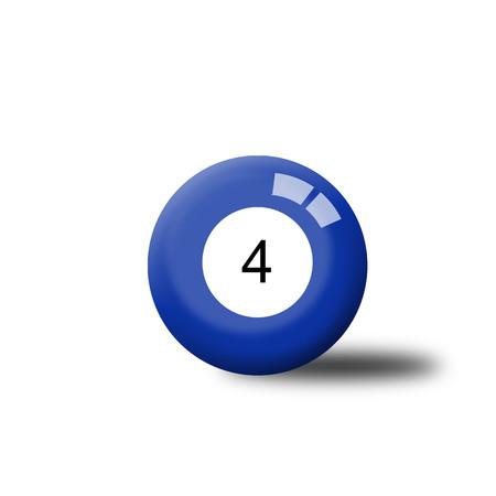Number 4 Billiard Ball