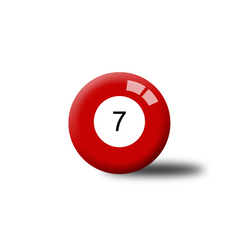 number 7: Number 7 Billiard Ball Stock Photo