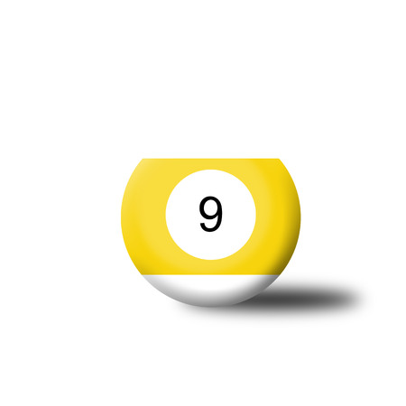 9 ball: Number 9 Billiard Ball