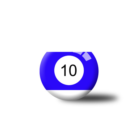 number 10: Number 10 Billiard Ball Stock Photo