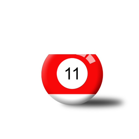 number 11: Number 11 Billiard Ball Stock Photo