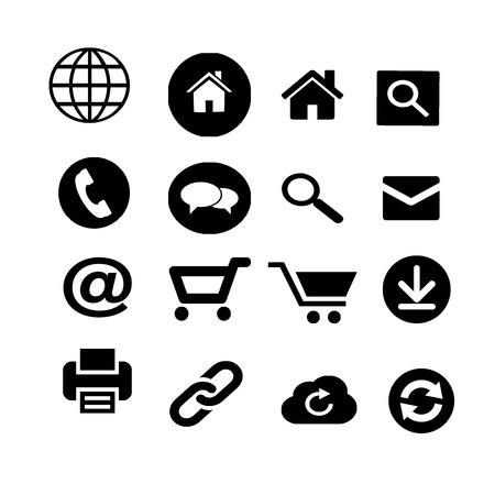 Web and Internet Black Icons