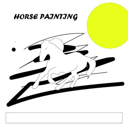 almanac: horse painting