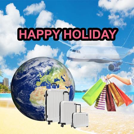 De gelukkige Kaart van de Vakantie