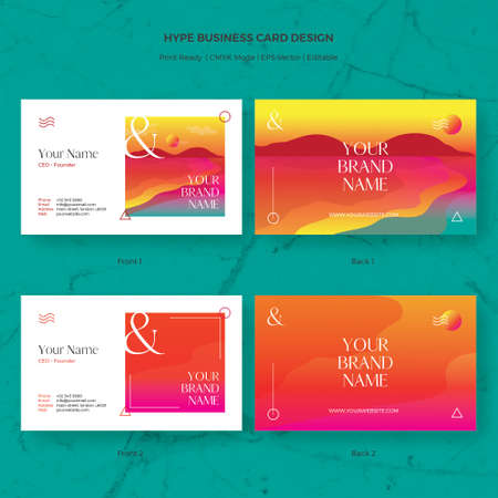 Luxury purple business card vector template fit for modern company 88606540 hype business card vector template fit for party event organizer modern company startup and more reheart Images