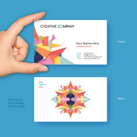 Creative Business Card Vector Template for Creative Startup, Modern Company, Party Management and Event Organizer Ilustração