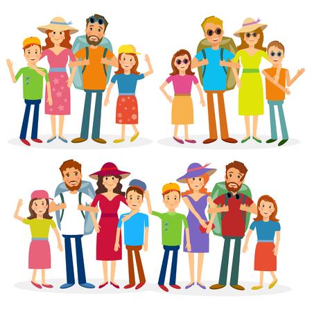 Traveling familielid vector mensen