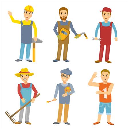 profesiones: Profesiones de recolección personas del vector Vectores