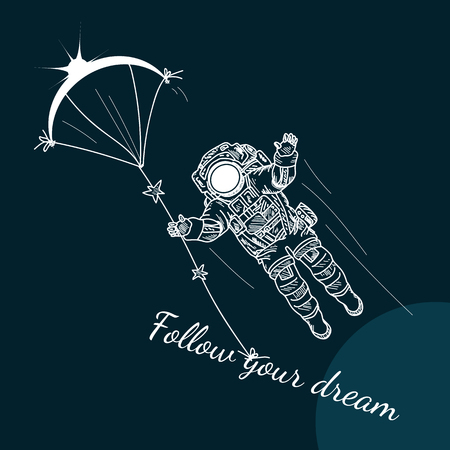 spaceflight: Follow Your Dreams motivation poster Illustration