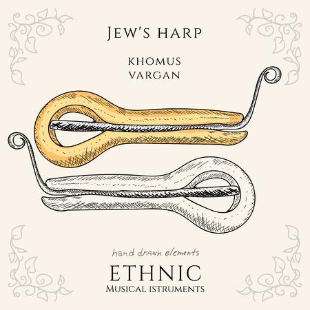 jews: Jews harp Khomus Vargan ethnic musical instrument