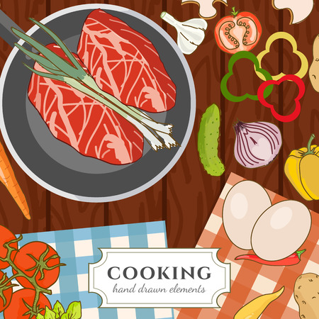 fresh meat: Cooking cookbook kitchen table cooking recipes fresh meat and vegetables