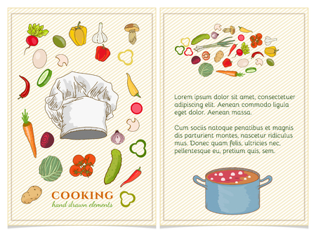 cookbook: Cookbook page hand drawn elements