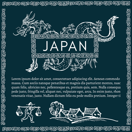 traditions: Japan, Japanese dragon traditions and culture of Japan Japanese background