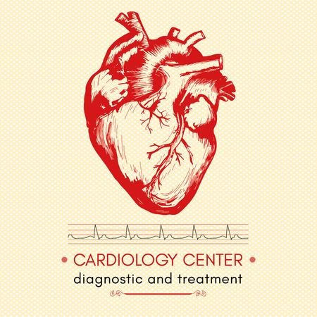 coeur symbole médical humain de la cardiologie centre de cardiologie vecteur