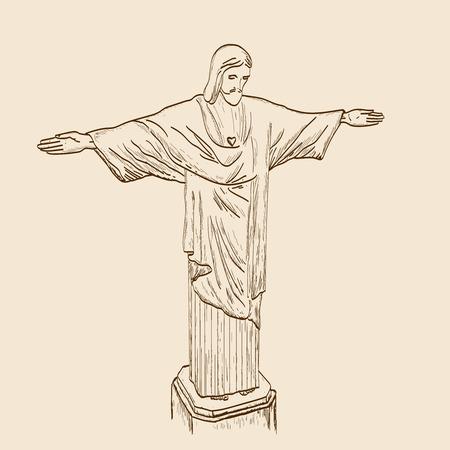 Statue of Jesus Christ Vetores