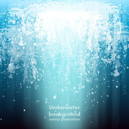 deep water: Underwater background deep water vector
