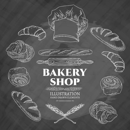 Boulangerie illustration vectorielle Vecteurs