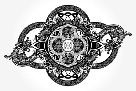 Tatuaggio celtico per la progettazione t-shirt Archivio Fotografico - 84740570