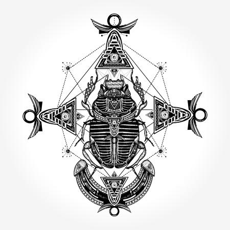 고대 이집트 벡터의 문신