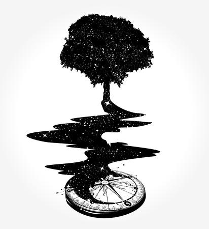 生命と不死の超現実主義的な概念  イラスト・ベクター素材