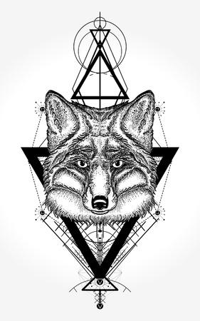 タトゥーや t シャツのデザインをフォックスします。