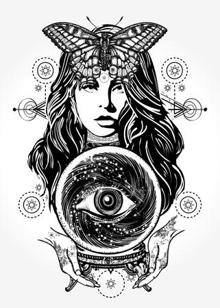 아름다운 마녀 티셔츠 디자인