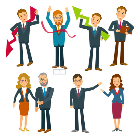 Business people set. Business people collection Illustration