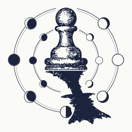 Schach-Tattoo. Standard-Bild - 88316910