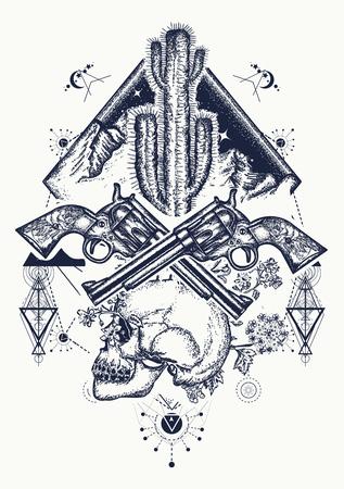 Wild west art design